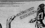 Political cartoon describing Franco-American Alliance
