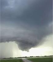 A tornado forms.