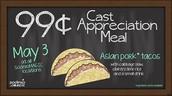 Cast Appreciation Meal