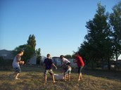 This is our water balloon fight.
