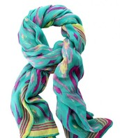 Palm Springs Scarf-Turquoise Ikat