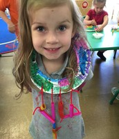 We had fun showing off our colorful necklaces!
