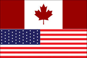 Flags of the U.S. and Canada