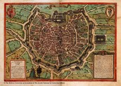 מפת מילאנו משנת 1,572