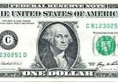 On the dollar bill