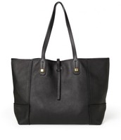 Black Leather Paris Market tote, Brand new