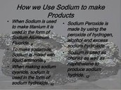 How we use sodium ?