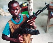 Child Soldier with a gun