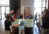 jugando con axel ping pong