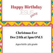 December 24: Christmas Eve service information