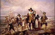 Pilgrams landing in Plymouth