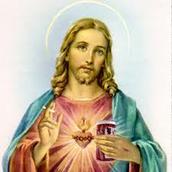 Sacred Heart of Jesus Blessing the world