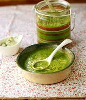 broccoli and pea soup