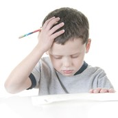 Student with dysgraphia