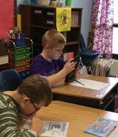 Mrs. Coyne's Class using technology