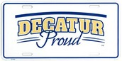 Decatur Proud License Plates