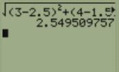distance between F,H