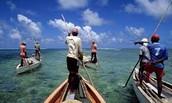 Fishermen outside of the MPA area