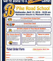 Field Trip to Montgomery Biscuits Game April 13th