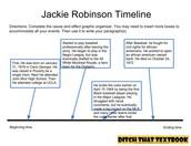 Jackie Robinson Graphic Organizer