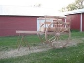 all wood red river cart