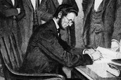 Lincoln Signs The Emancipation Proclamation