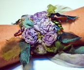 Watercolor Rosette Cuff