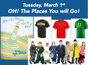 Martes, 1 de marzo, Lleve cualquiera camiseta de temática universitaria o disfrazarse de lo que le gustaría ser cuando seas grande!