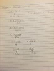 Quadratic formula example: