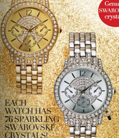 Get this gorgeous watch with Swarovski Crystals !