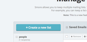 "2. Click ""Create a New List"""