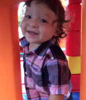 Brandon having fun outside