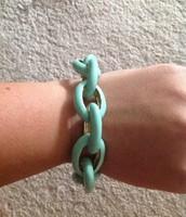 Mint enamel bracelet