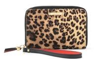 Chelsea Tech Wallet in Leopard