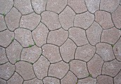 Tesselated street pavement in Poland.