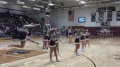 Warrior Cheerleaders Leading the Crowd