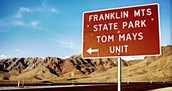You can hike and camp at Franklin Mountains State Park!
