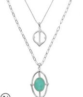 fortuna stone pendant
