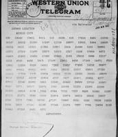 Zimmermann Telegram - January 1917