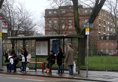 Crowded Bus Stops