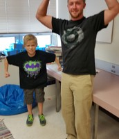 5th Grade Joined in the fun to show some muscle!