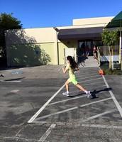 Allison's great running stride!