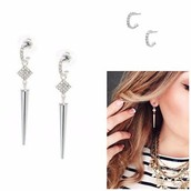 Silver Bianca Earrings, versatile 2 in 1 $20
