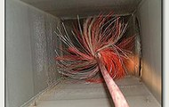 Brushing out Air Ducts