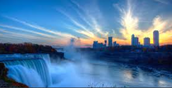 Sunset with the Niagara Falls