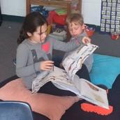 We love reading to our kindergarten buddies!