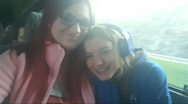 Sydney and me on the bus