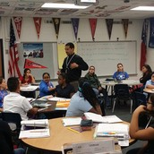 Mr. Melendez talking to our AVID 6th Graders!