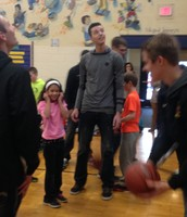 Varsity Basketball player, Frank Vukaj with Ava Lindsey