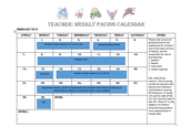 4th Grade Feb Pacing
